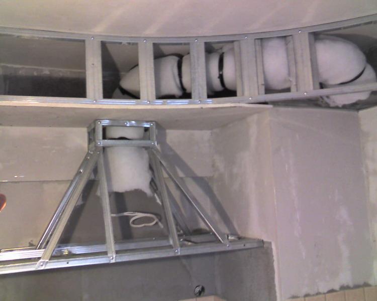 Кухонная вытяжка из гипсокартона своими руками (фото, мастер-класс)